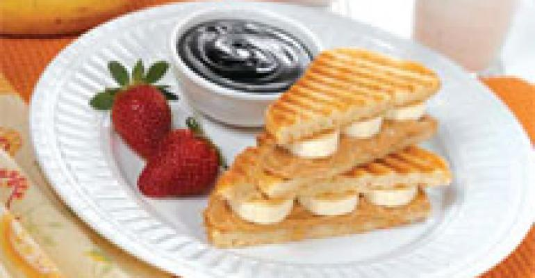 Chocolate & Peanut Butter Grilled Breakfast Panini
