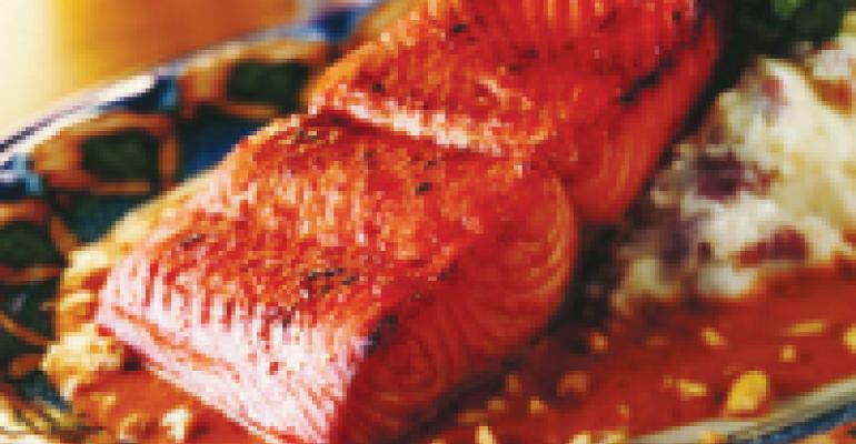 Chipotle-Glazed Alaska Salmon with Spicy Peanut Salsa