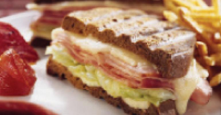 Smoked Brisket Sandwich on Marble Rye