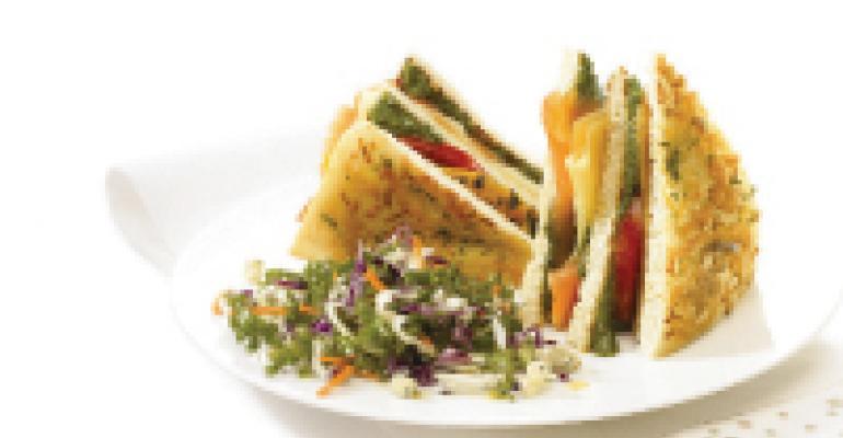 Triple Decker Cilantro Club Sandwich