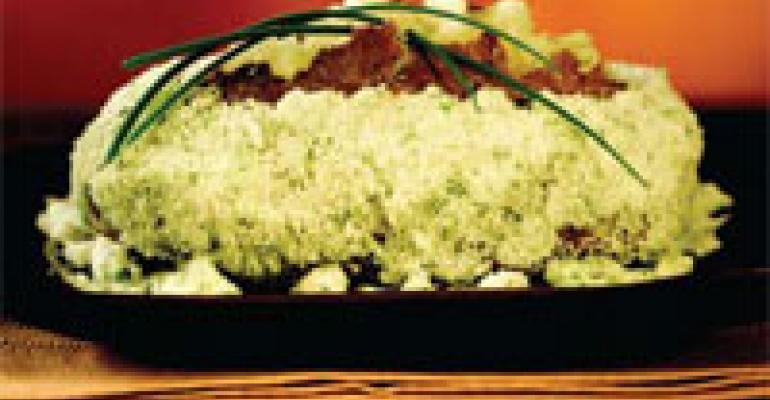 Salt Crust Baked Idaho Potato