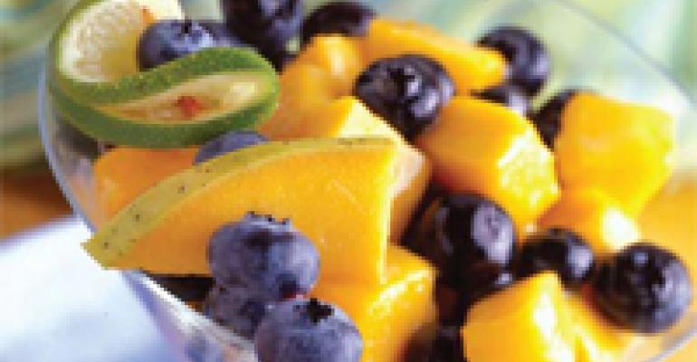 Blueberry Mango Colada Salad
