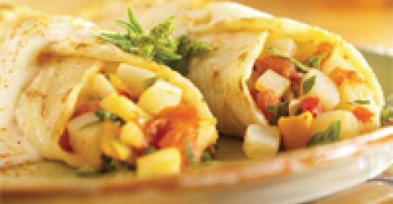 Idaho Potato Enchiladas with Cilantro Crema