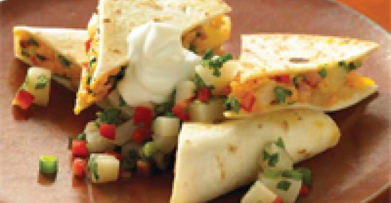 Pear and Pepper Quesadilla