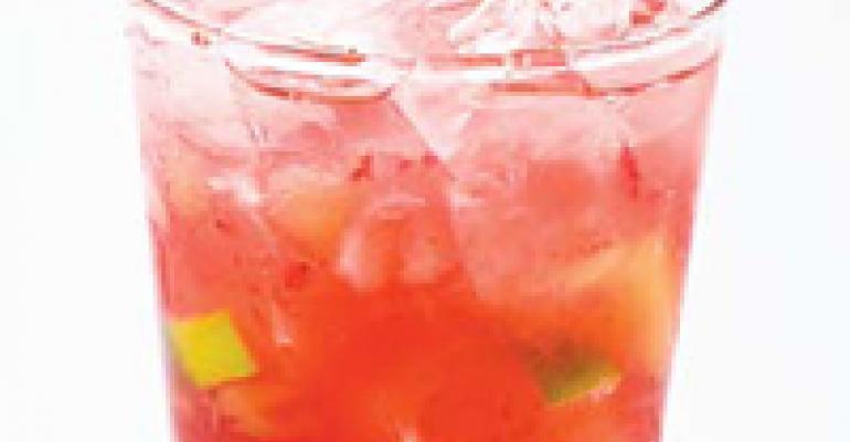 Papaya Berry Caipirinha