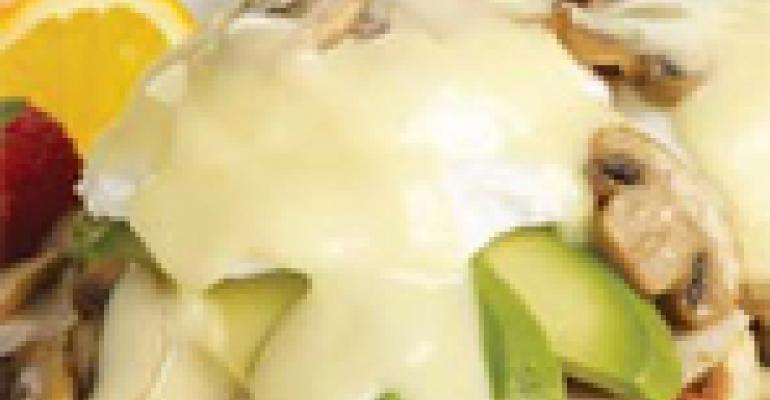 Turkey Mushroom and Avocado Benedict