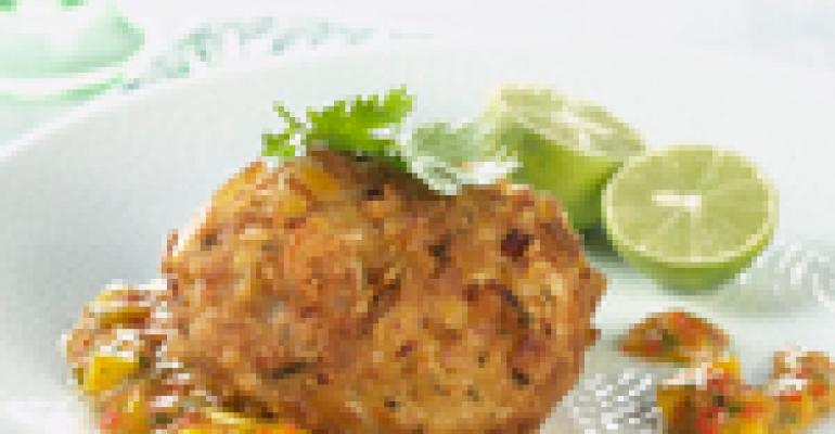 Plantain Crusted Crab Cakes