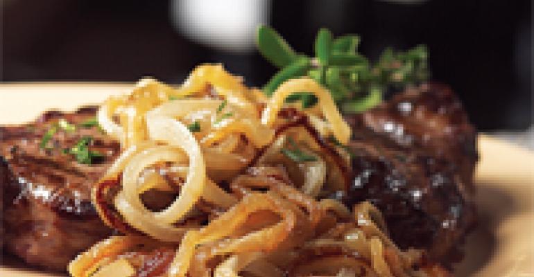 Añejo Caramelized Onions With New York Strip