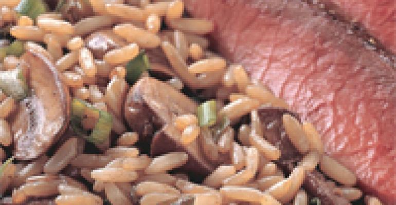 Beef-Simmered Rice and Mushroom Side Dish