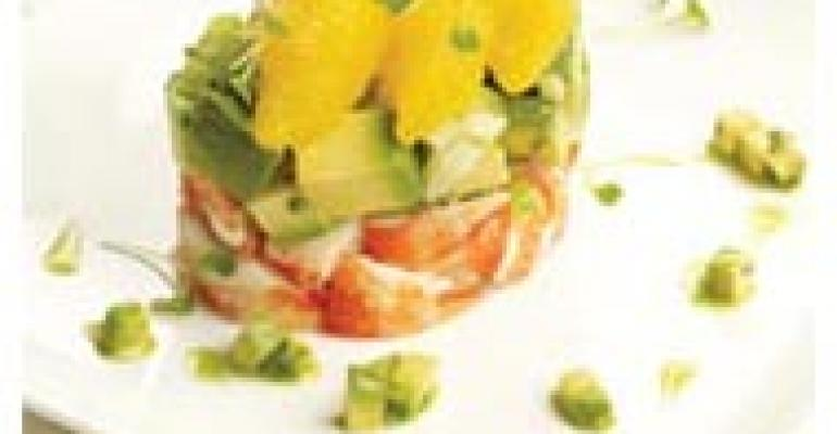 Lobster, Avocado and Aromatic Vegetables with Cilantro Mint Vinaigrette