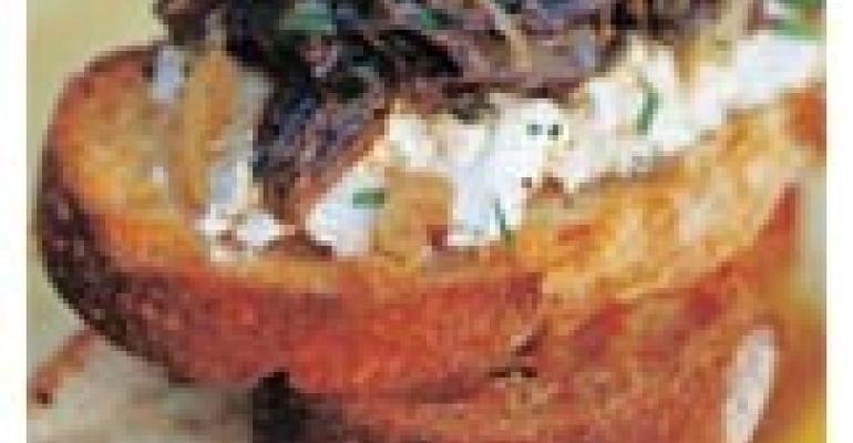 Shiitake Mushroom and Goat Cheese Toasts