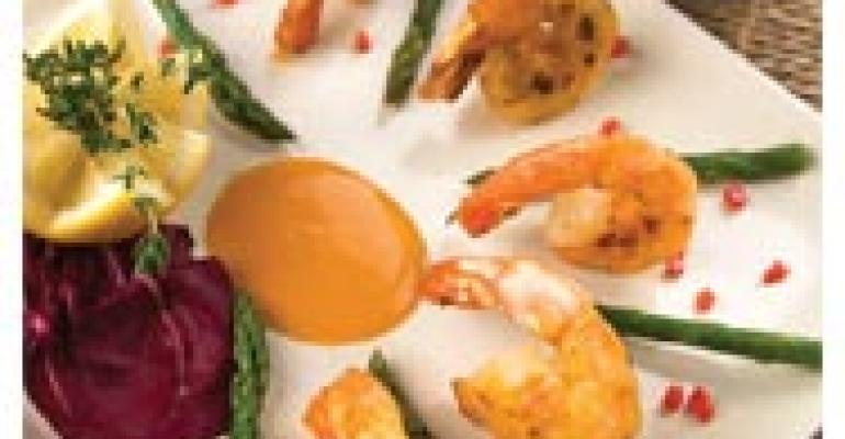 Pan-Seared Shrimp with Lobster Cream Sauce