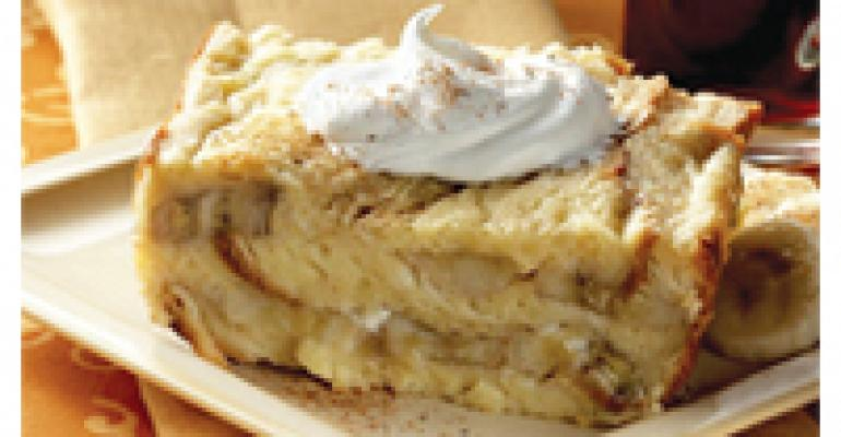 Roasted Banana White Chocolate Bread Pudding