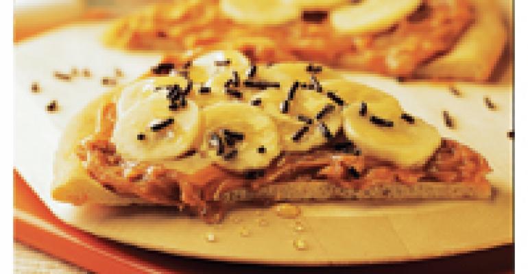 Honey Peanut Butter and Banana Pizza