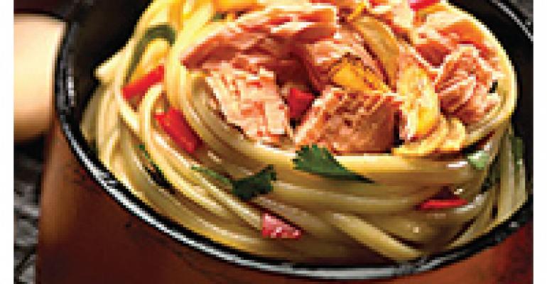 Vietnamese Garlic Tuna Over Noodles