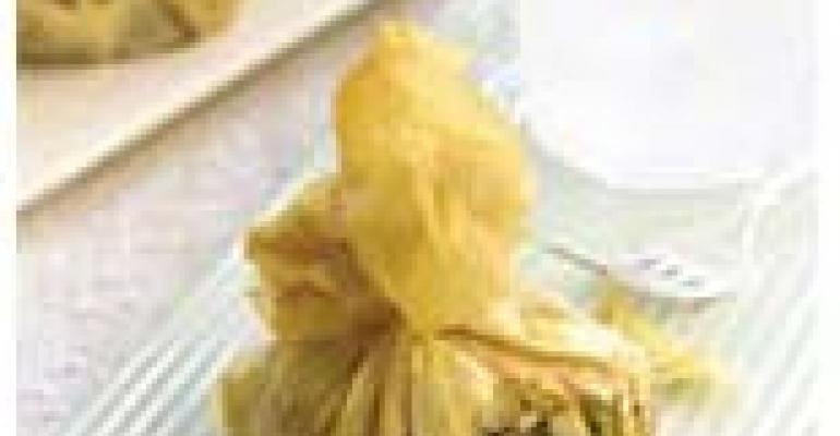 Filo Purses Stuffed with Mushrooms and Artichokes