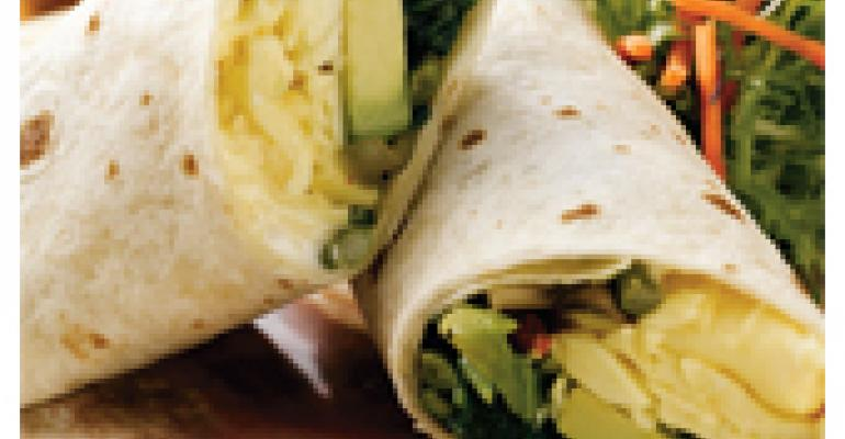 Roasted Vegetable and Egg Wrap