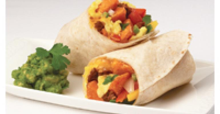 Sweet Potato, Egg & Chorizo Breakfast Wrap