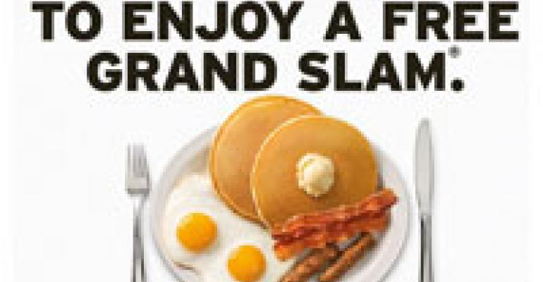 Free Grand Slam Gets Denny's Execs Slammed