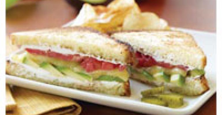 Fresh Avocado Grilled Cheese Sandwich