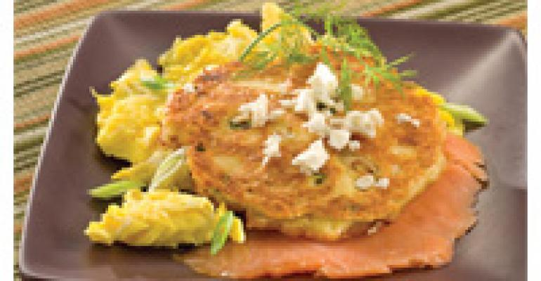 Feta Cheese and Garbanzo Bean Fritters