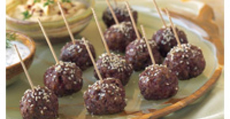 Lamb Meatballs with Mediterranean Dips