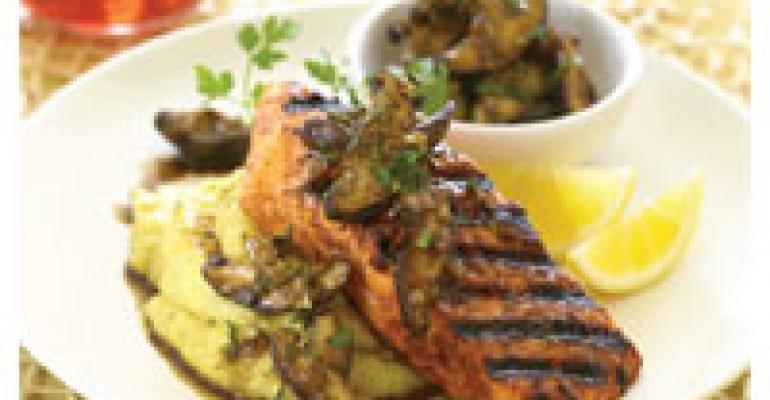 Salmon with Shiitake Relish