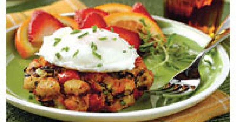Smoked Salmon & Red Onion Hash with Poached Eggs