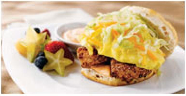 Bluegrass Egg Biscuit with Fresh Chicken Fingers