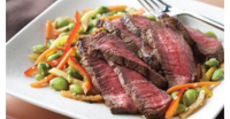 Beef Sarang with Mango Edamame Relish