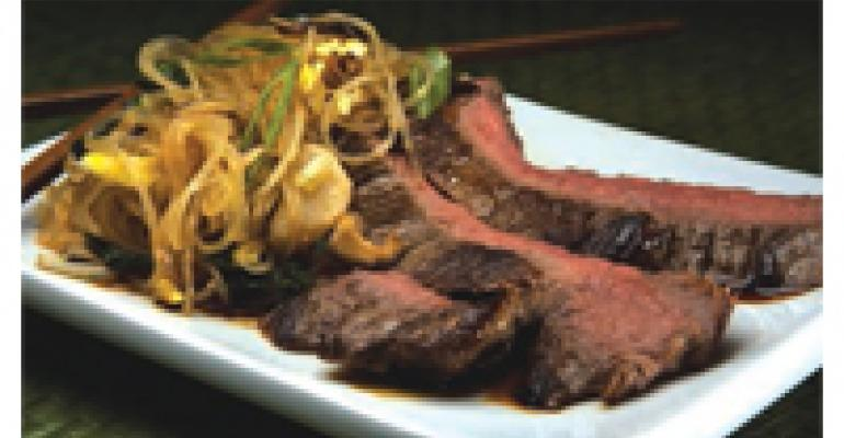 Flank Steak with Asian Noodles