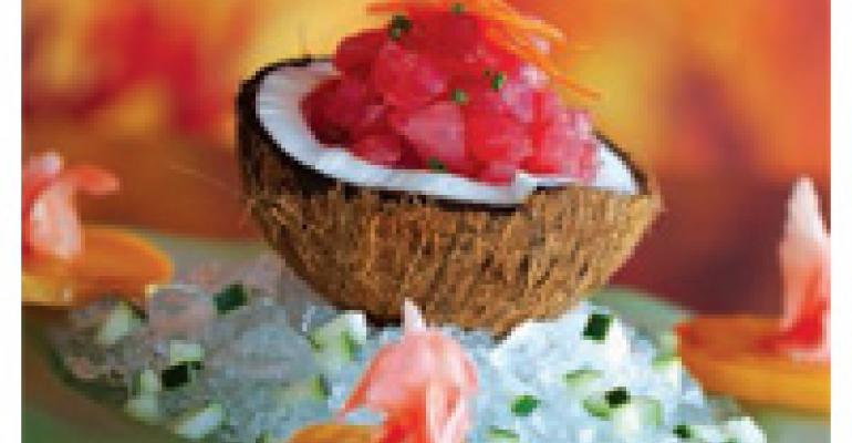 Coconut Tuna Seviche