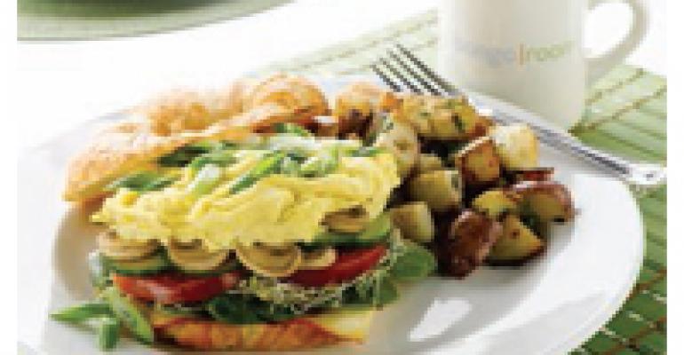 Vegetarian Croissant Sandwich