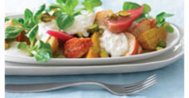 Lobster, Beet and Burrata Salad