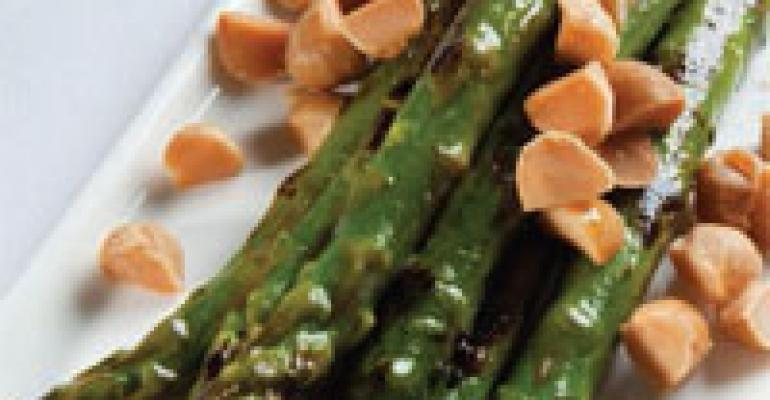 Pan-Roasted Local Asparagus with Toasted Macadamia Nuts