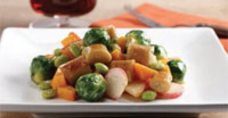 Gnocchi with Vegetables and Edamame