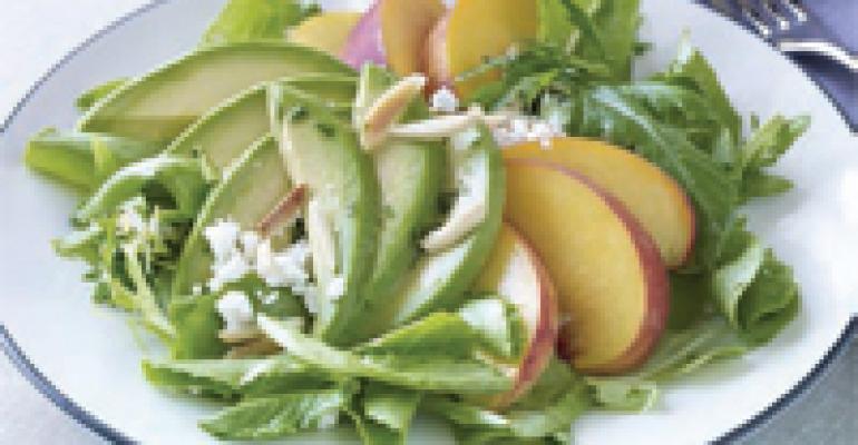 Peach and Fresh California Avocado Salad