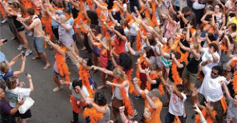 Flash Mob Fights Fat