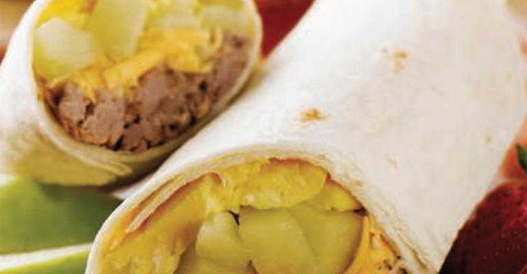 Apple Carnitas Breakfast Burrito