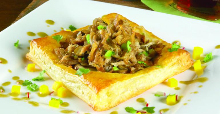 Mole of Duck in Puff Pastry