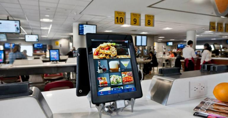 Airport restaurant customers upsell themselves with iPads