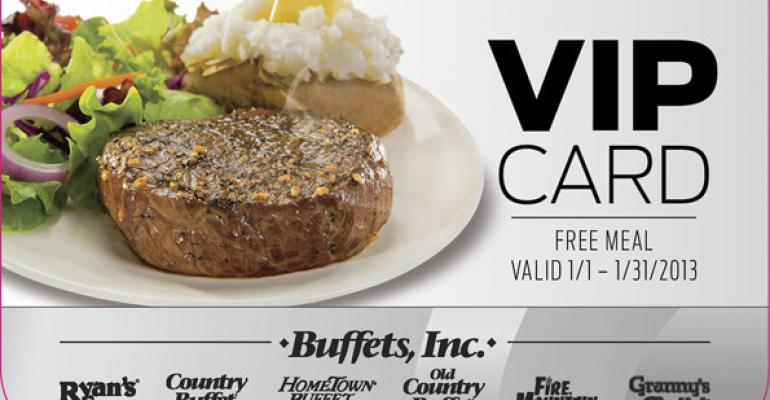 Buffets Inc is among the restaurant companies getting in on the giftcard game