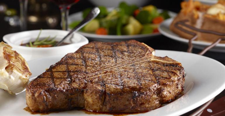 LongHorn Steakhouse offers a classic Porterhouse cut on its menu