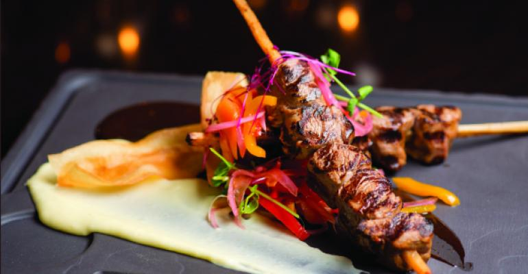 Marinated American Lamb Tenderloin Skewers from Miami Beachrsquos Meat Market