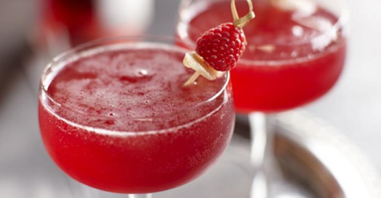Raspberry Ginger Bellini