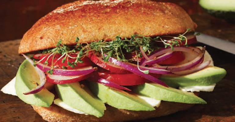 Avocado and Queso Panela Tortas