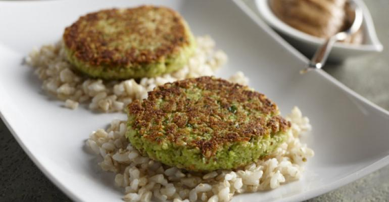 Edamame Cakes with Soy and Peanut Dipping Sauce