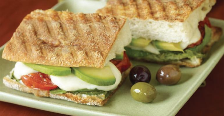 Grilled Avocado Caprese Panini