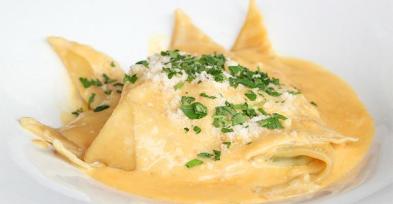 Daviorsquos lemon ricotta ravioli is a dish created specially for National Ravioli Day