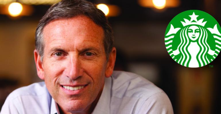 Starbucks ceo Howard Schultz will keynote at the annual NRA Show